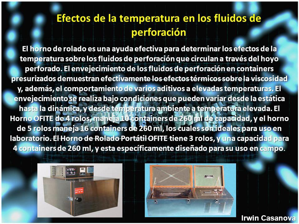 El horno de rolado es una ayuda efectiva para determinar los efectos de la temperatura sobre los fluidos de perforación que circulan a través del hoyo perforado.