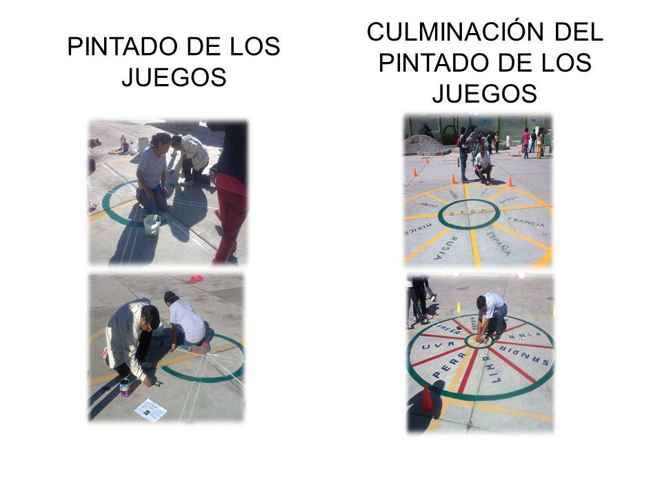 PINTADO DE LOS JUEGOS CULMINACIÓN DEL PINTADO DE LOS JUEGOS