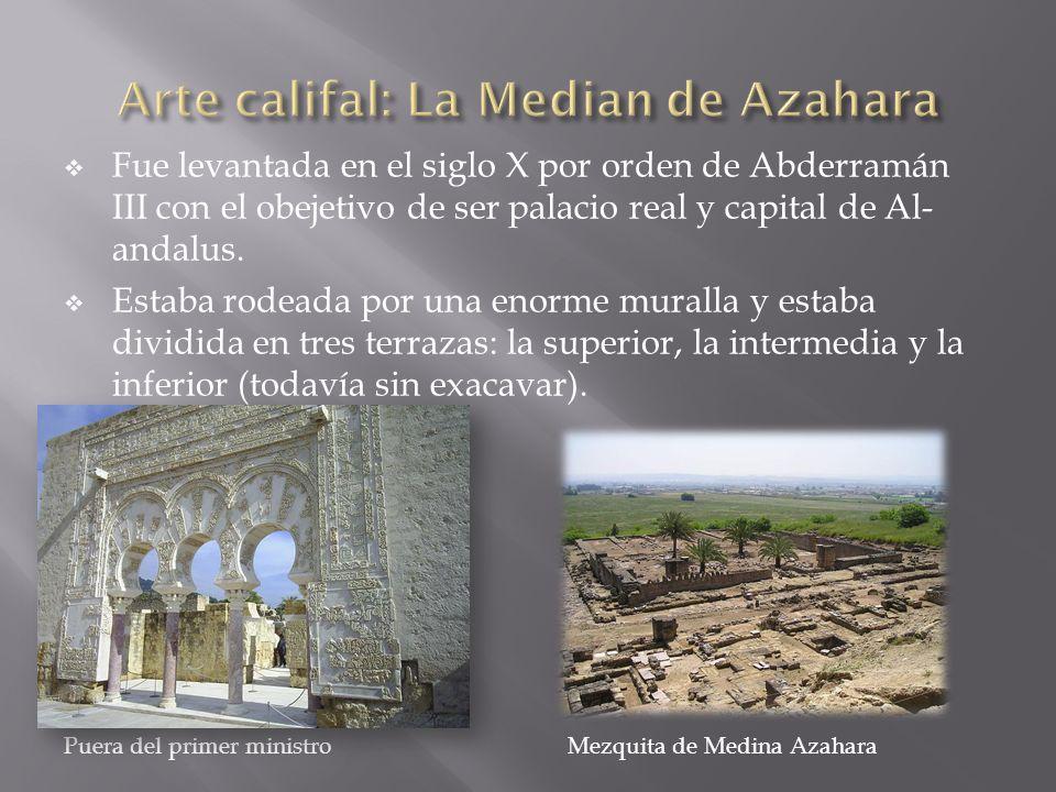 Fue levantada en el siglo X por orden de Abderramán III con el obejetivo de ser palacio real y capital de Al- andalus. Estaba rodeada por una enorme m