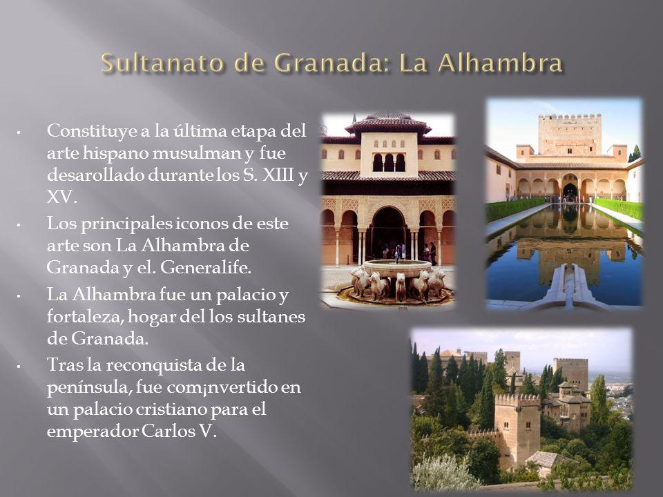 Constituye a la última etapa del arte hispano musulman y fue desarollado durante los S. XIII y XV. Los principales iconos de este arte son La Alhambra