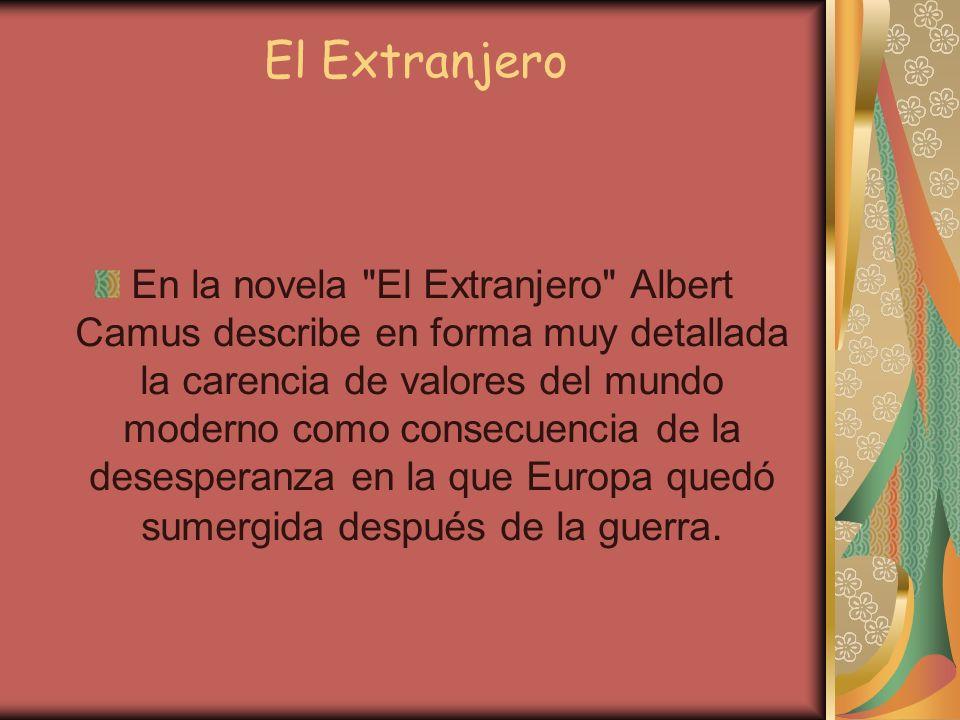 El Extranjero En la novela