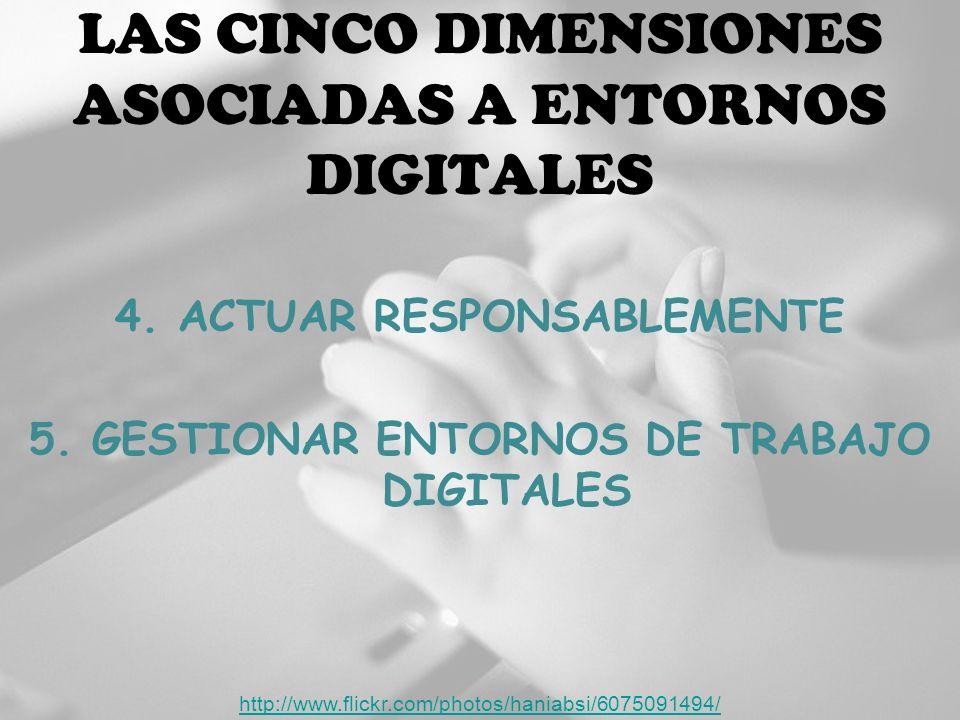 LAS CINCO DIMENSIONES ASOCIADAS A ENTORNOS DIGITALES 4.
