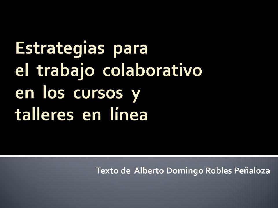 Texto de Alberto Domingo Robles Peñaloza