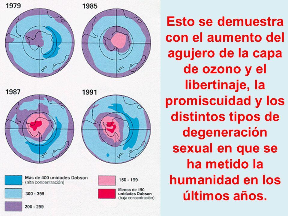La cual afecta y daña las capas atmosféricas protectoras de la Esfera. Una de ellas es la capa de ozono.