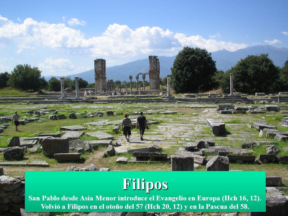 Filipos Filipos San Pablo desde Asia Menor introduce el Evangelio en Europa (Hch 16, 12).