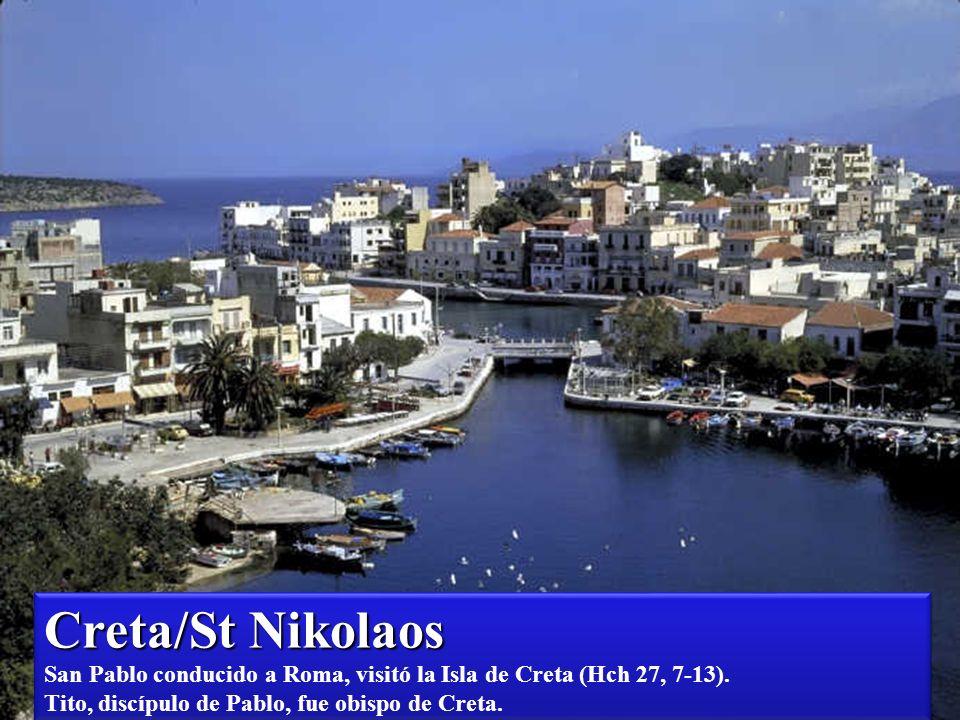 Creta / Rethymno Creta / Rethymno San Pablo conducido a Roma visitó la Isla de Creta: Hch 27, 7-13 Tito, discípulo de Pablo, fue obispo de Creta