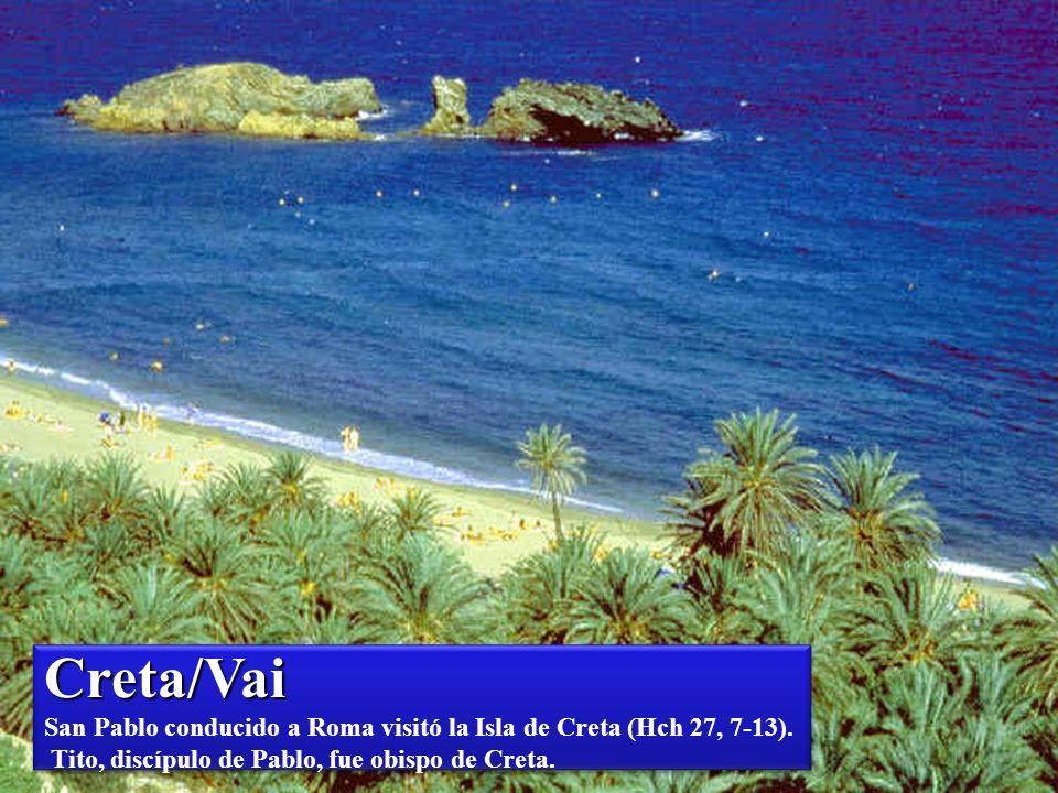 Creta/St Nikolaos Creta/St Nikolaos San Pablo conducido a Roma, visitó la Isla de Creta (Hch 27, 7-13). Tito, discípulo de Pablo, fue obispo de Creta.