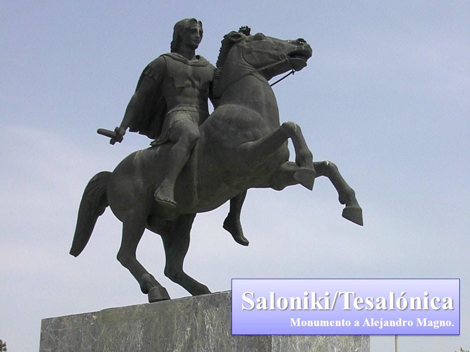 Saloniki/Tesalónica Saloniki/Tesalónica San Pablo visitó Tesalónica (Hch 17, 1-10). Desde Corintio, entre los años 52-53 escribió dos cartas a esta Ig