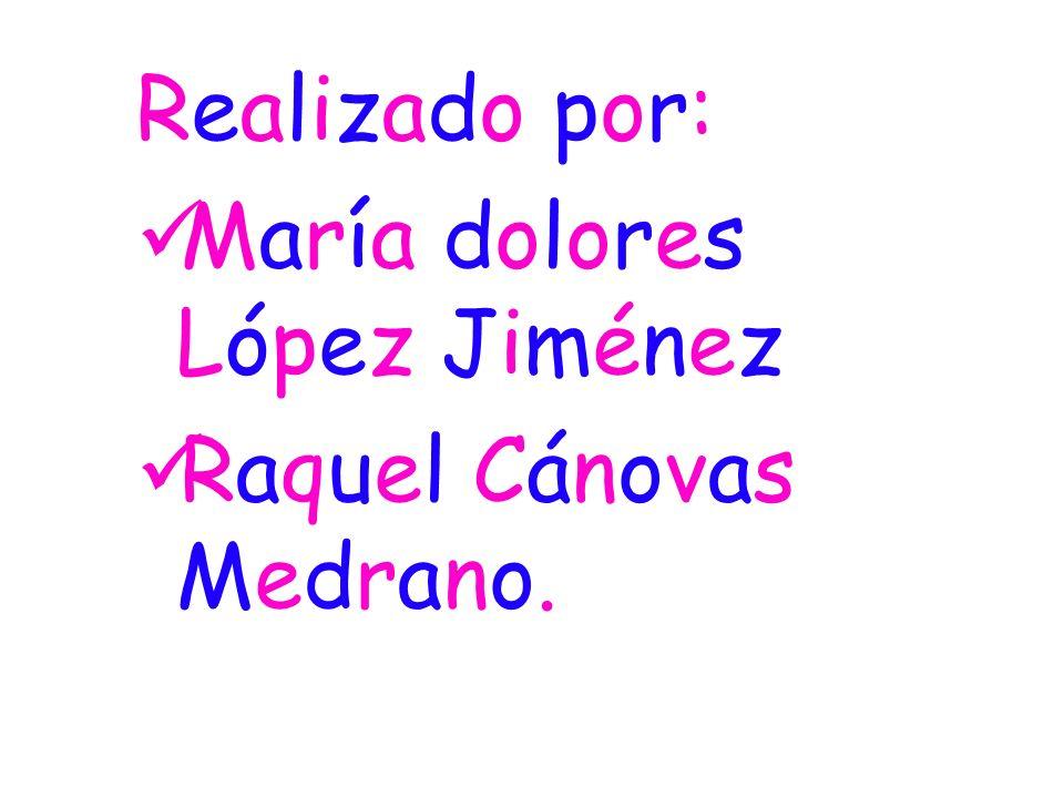 Realizado por: María dolores López Jiménez Raquel Cánovas Medrano.