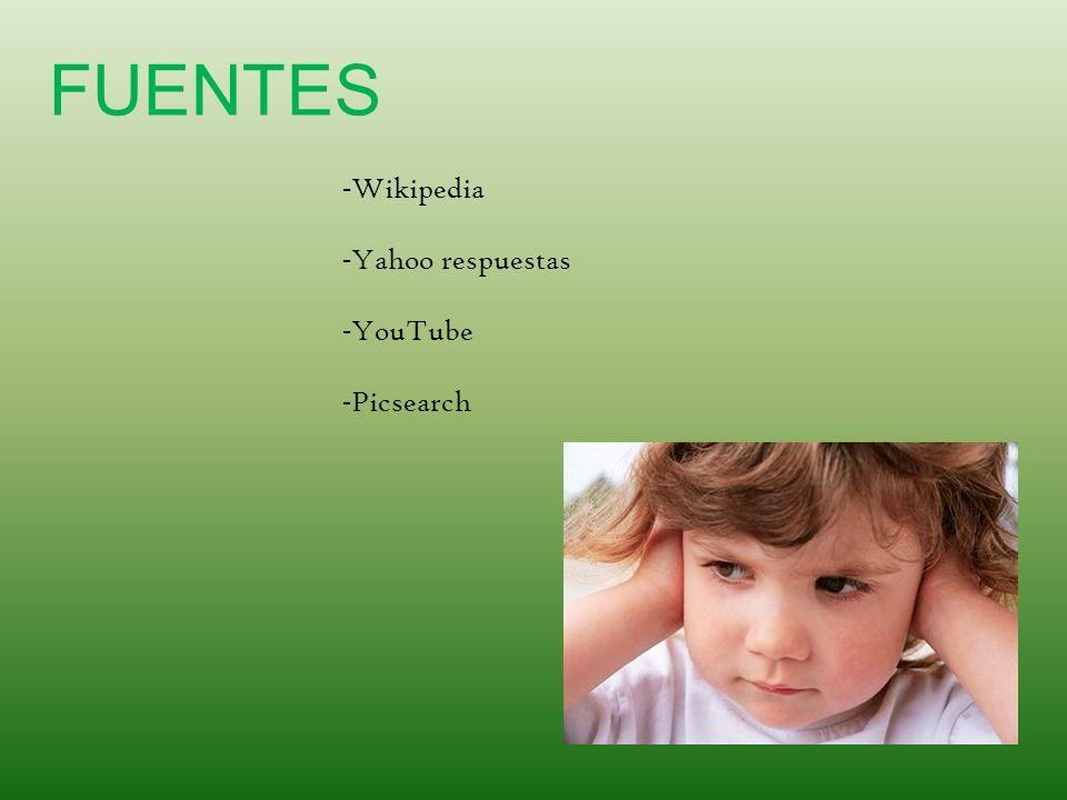 FUENTES - Wikipedia - Yahoo respuestas - YouTube - Picsearch