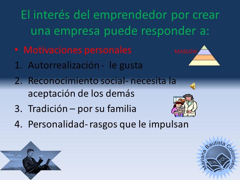 En el contexto empresarial LAS INICIATIVAS EMPRENDEDORAS SE ASOCIAN A LA CREACIÓN DE EMPRESAS Y SU POSTERIOR GESTIÓN