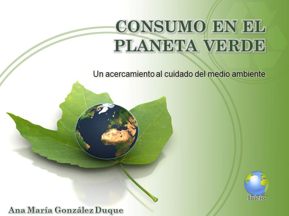 Conceptos básicos Hogar verde Consumidor ecológico Energía limpia Economía verde Actividades El presente medio interactivo que busca sensibilizar sobre el cuidado del medio ambiente, formación de hábitos de consumo, formas alternativas de energía y políticas que permitan un desarrollo sostenible.