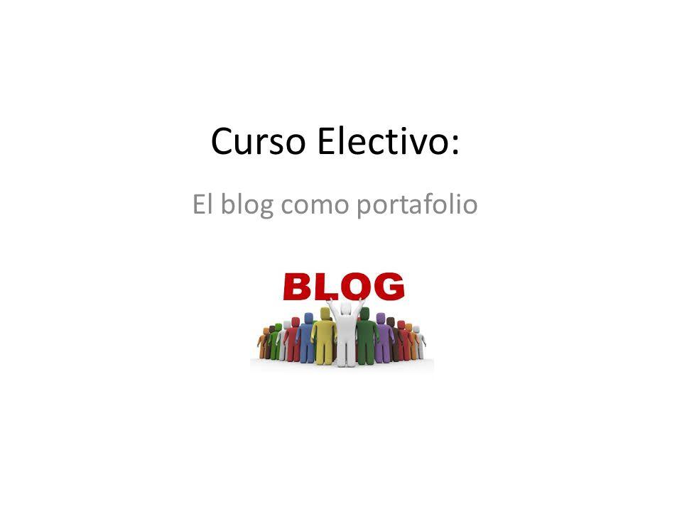 Curso Electivo: El blog como portafolio