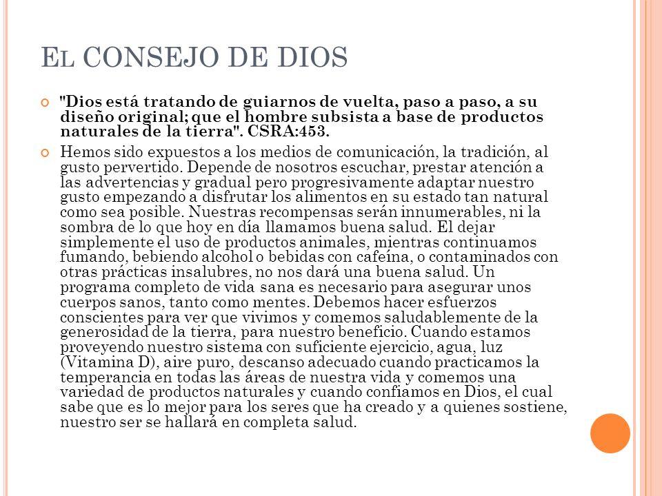 E L CONSEJO DE DIOS