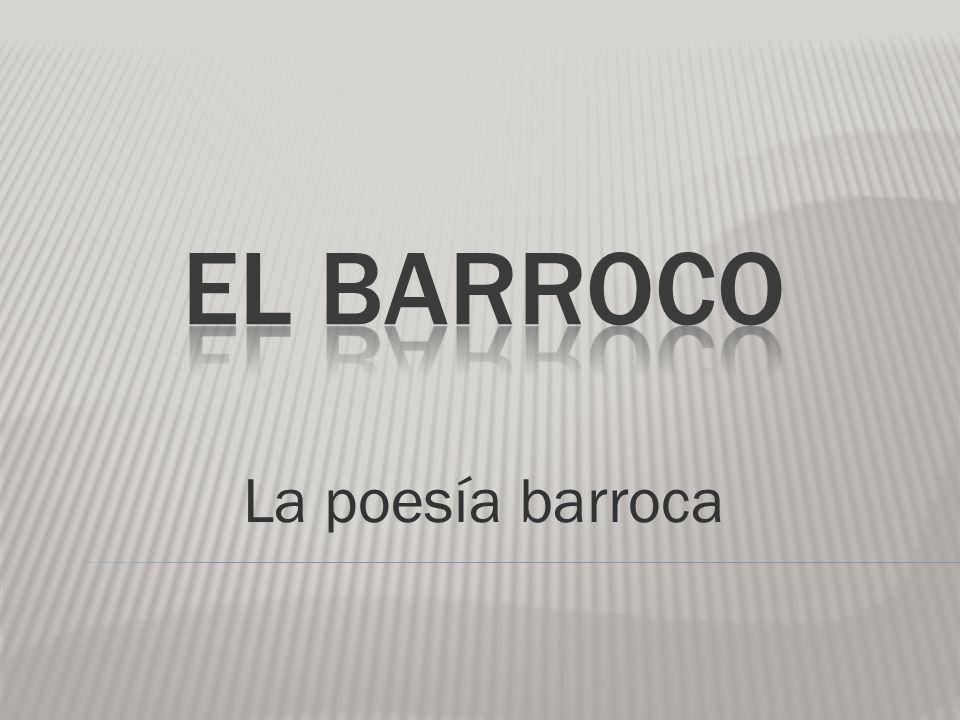La poesía barroca