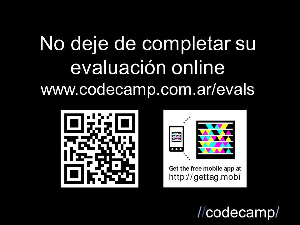 //codecamp/ No deje de completar su evaluación online www.codecamp.com.ar/evals