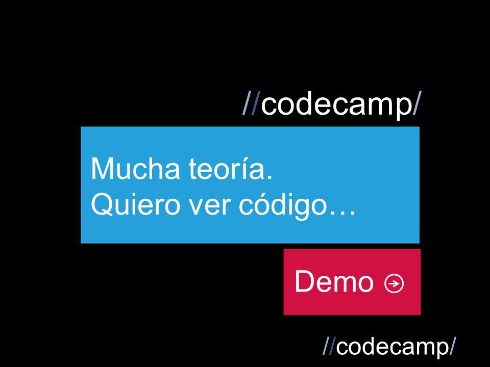 //codecamp/ Demo Mucha teoría. Quiero ver código…