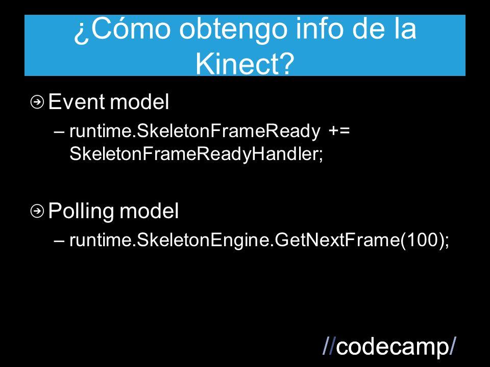 //codecamp/ ¿Cómo obtengo info de la Kinect.