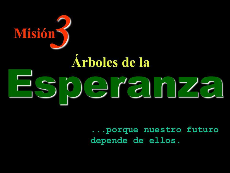 3 Árboles de la Misión Esperanza...porque nuestro futuro depende de ellos.