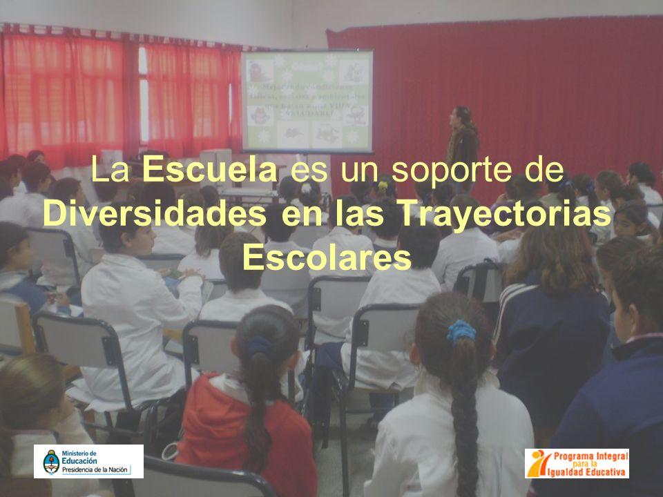 La Escuela es un soporte de Diversidades en las Trayectorias Escolares