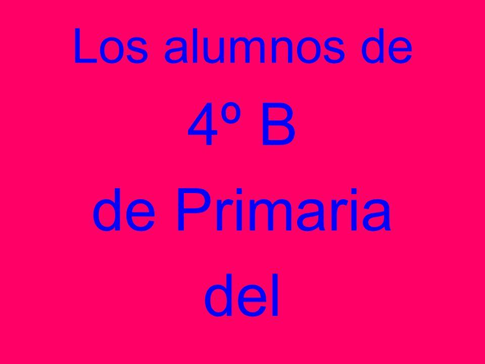 Los alumnos de 4º B de Primaria del