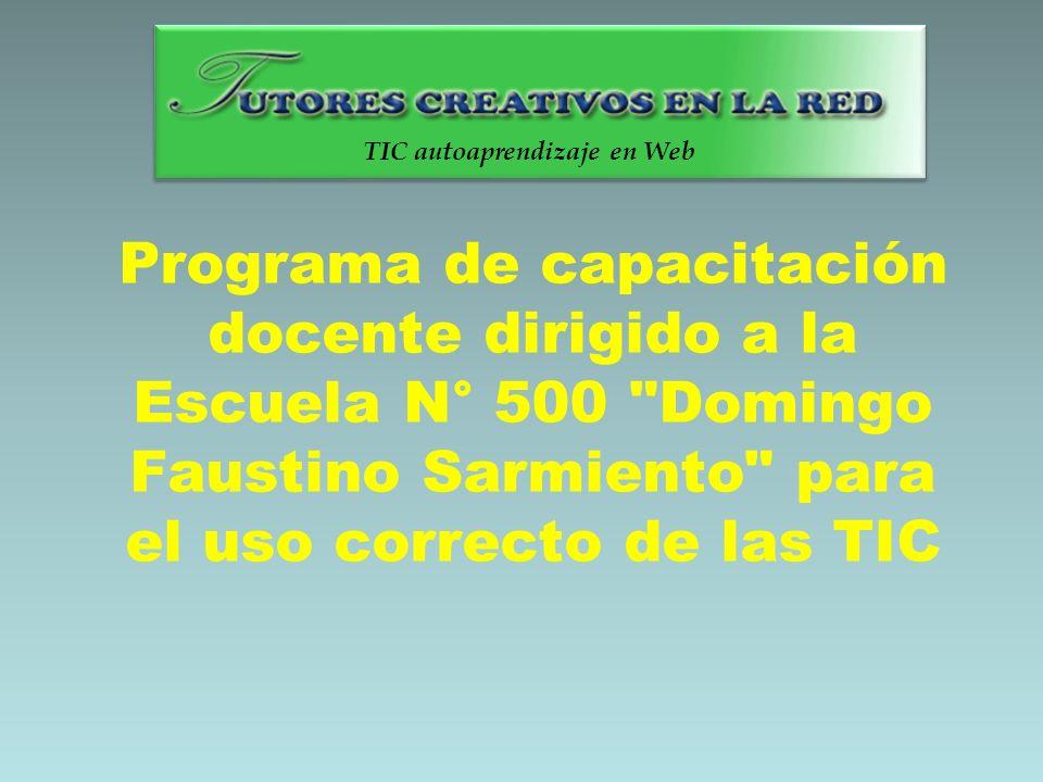 Programa de capacitación docente dirigido a la Escuela N° 500