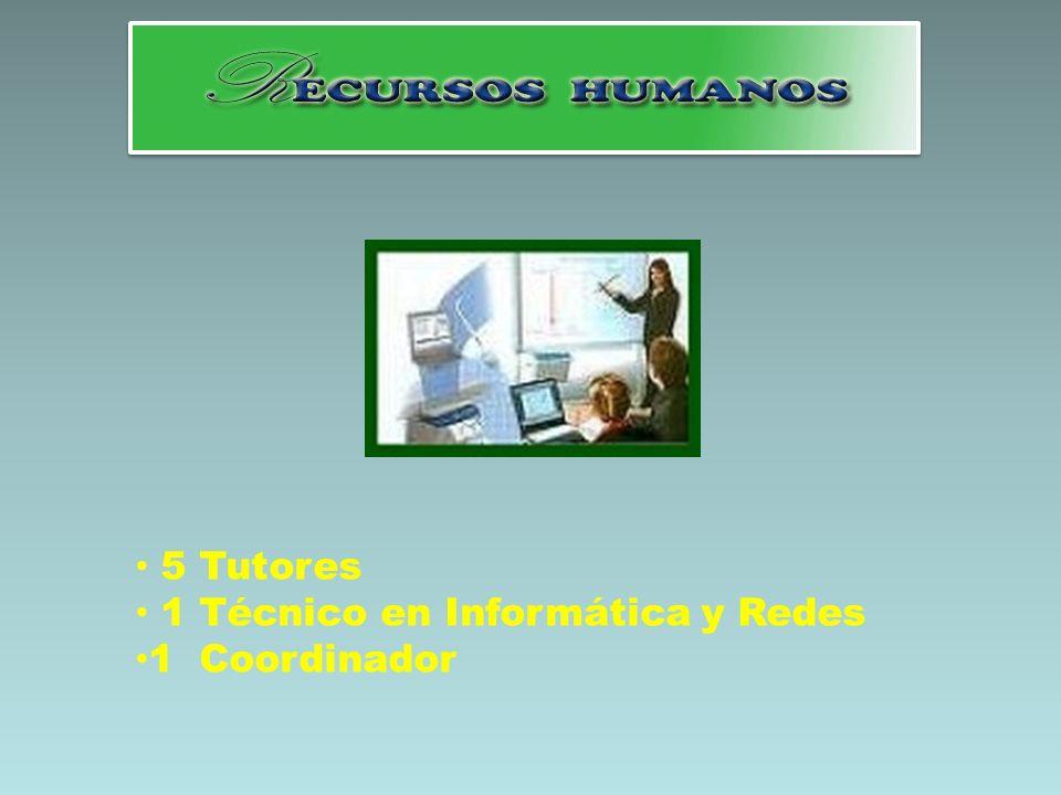 5 Tutores 1 Técnico en Informática y Redes 1 Coordinador
