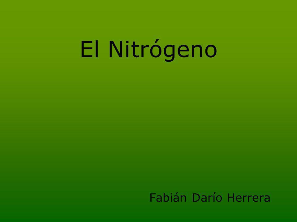 El Nitrógeno Fabián Darío Herrera