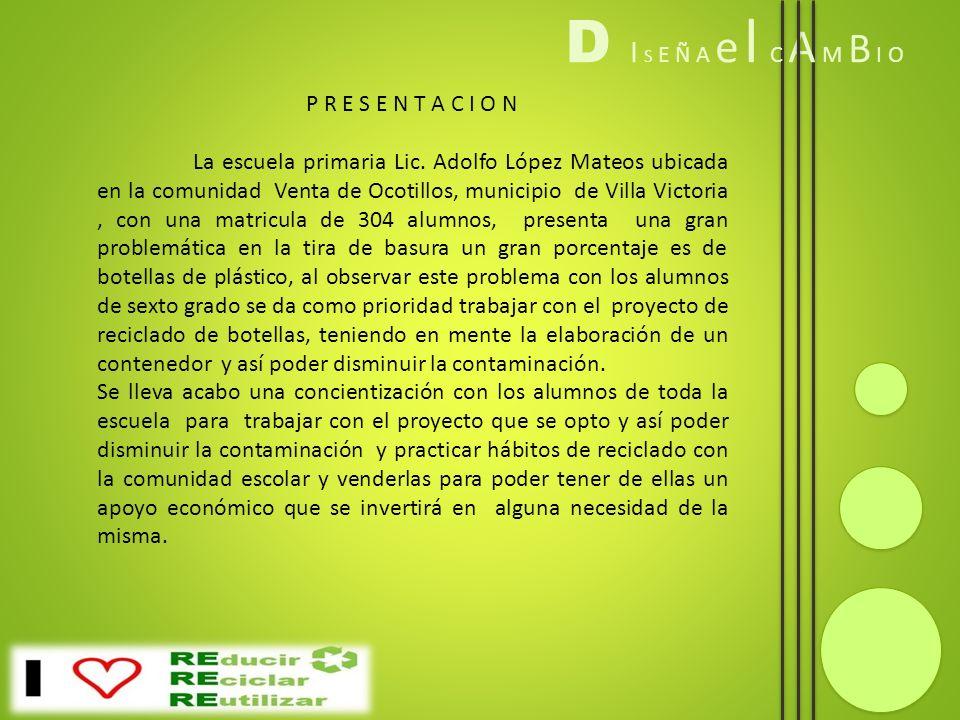 P R E S E N T A C I O N La escuela primaria Lic. Adolfo López Mateos ubicada en la comunidad Venta de Ocotillos, municipio de Villa Victoria, con una