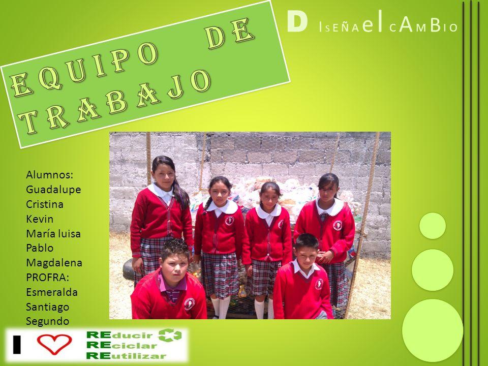 D I S E Ñ A e l C A M B I O Fin del proyecto Mostrando a la comunidad escolar sobre la recopilación del proyecto así como el beneficio que se esta obteniendo.