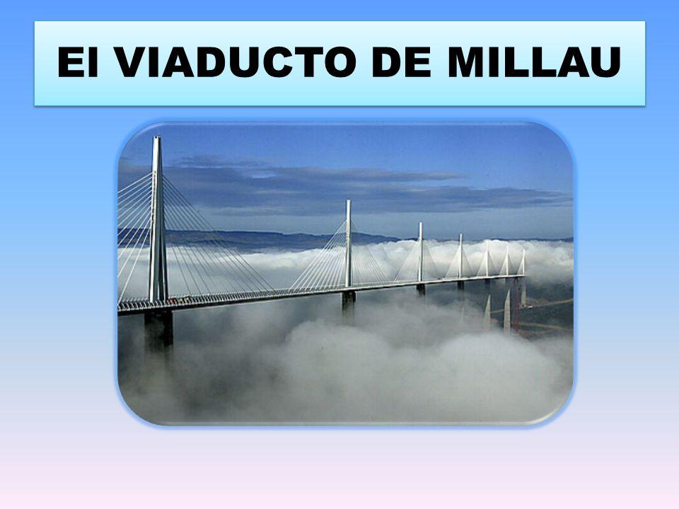 CARACTERISTICAS Es el puente mas grande del mundo Inaugurado el 14 de diciembre de 2004 tras 36 meses de trabajo de construcción La estructura alcanza una altura máxima de 343 metros sobre el rio Tarn y una longitud de 2.460 m, entre el causse du luzarc y el causse Rouge.