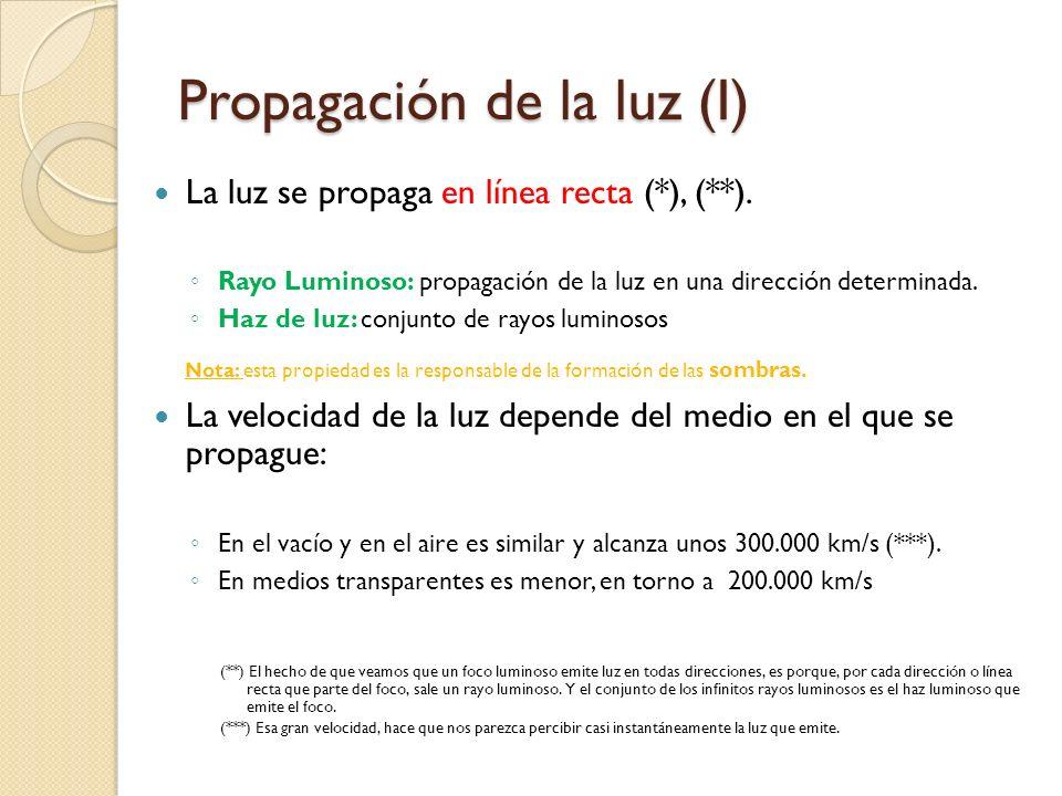 Los cuerpos y la luz (III) Según la cantidad de luz que atraviese un cuerpo, podemos clasificar los cuerpos en: (*) no absorben la mayor parte de la l