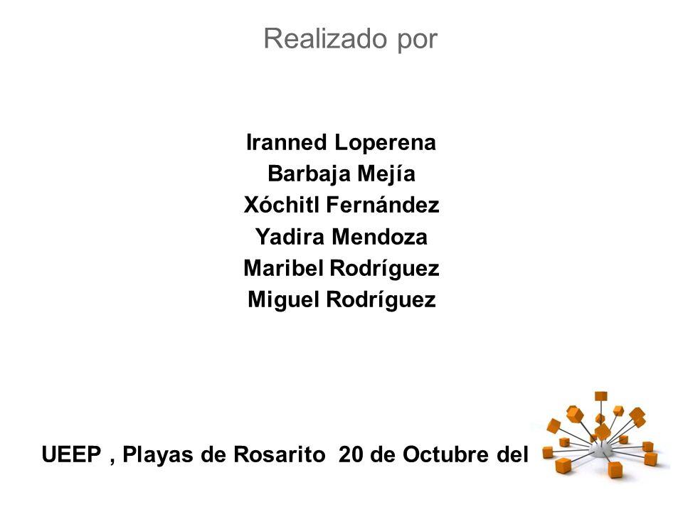Realizado por Iranned Loperena Barbaja Mejía Xóchitl Fernández Yadira Mendoza Maribel Rodríguez Miguel Rodríguez UEEP, Playas de Rosarito 20 de Octubre del 2012
