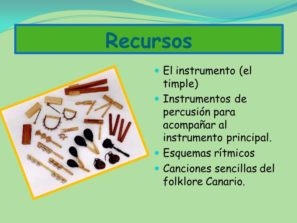 Criterios de evaluación 1. Responder en situaciones de improvisación, a fórmulas rítmicas y melódicas sencillas 2. Realizar individualmente o en grupo