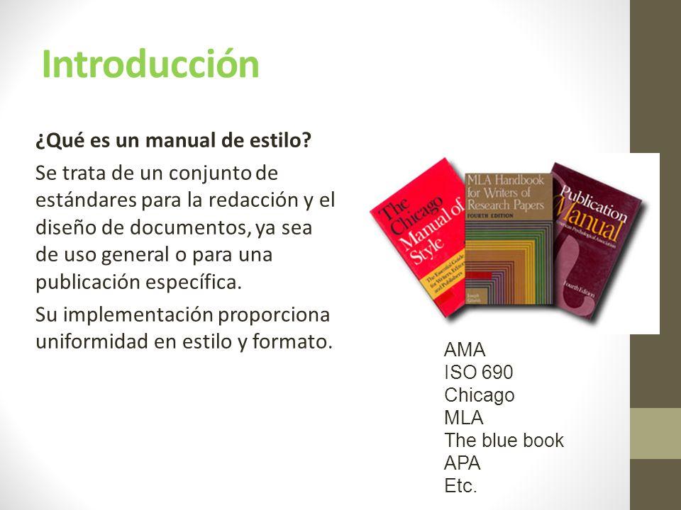 Introducción ¿Qué es un manual de estilo.