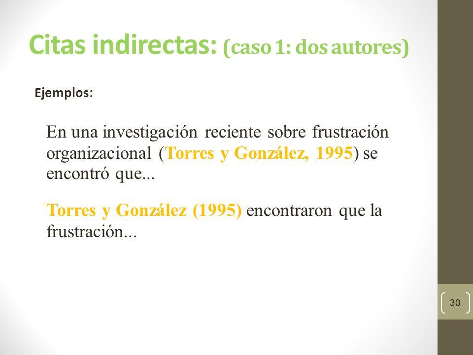 Citas indirectas: (caso 2: tres a cinco autores) Cite todos los autores la primera vez que se presente la referencia.