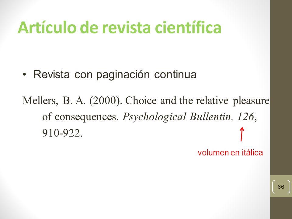 Artículo de revista científica 67 Paginada por ejemplar Dexter, P.