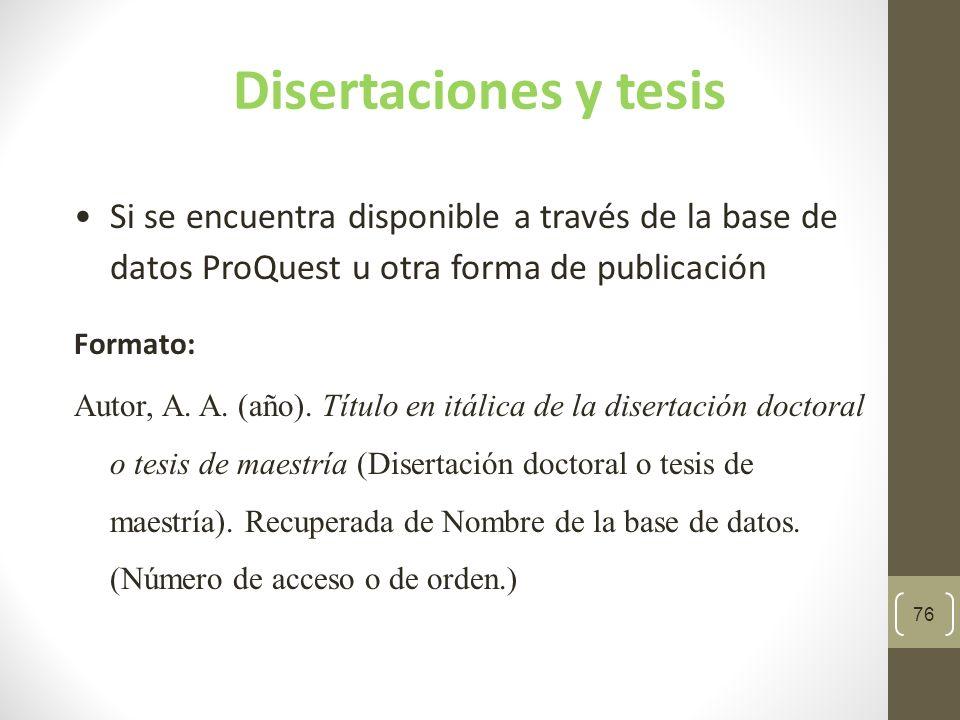 77 Ejemplo de disertación publicada en una base de datos Quiñones Maurás, I.