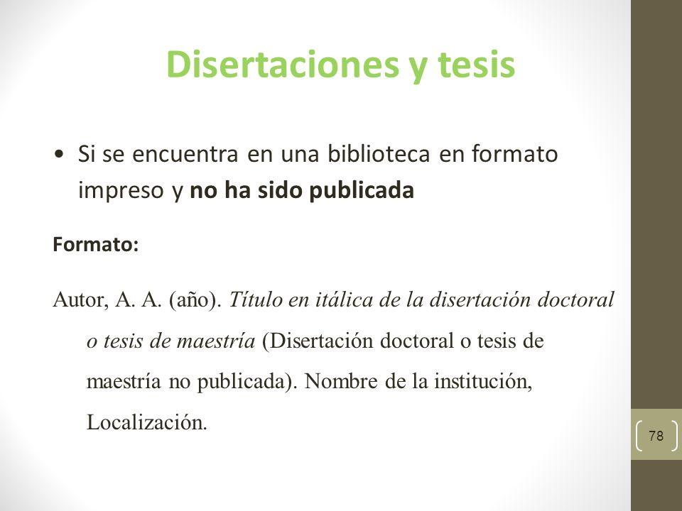 79 Ejemplo de una tesis no publicada Rodríguez Díaz, C.