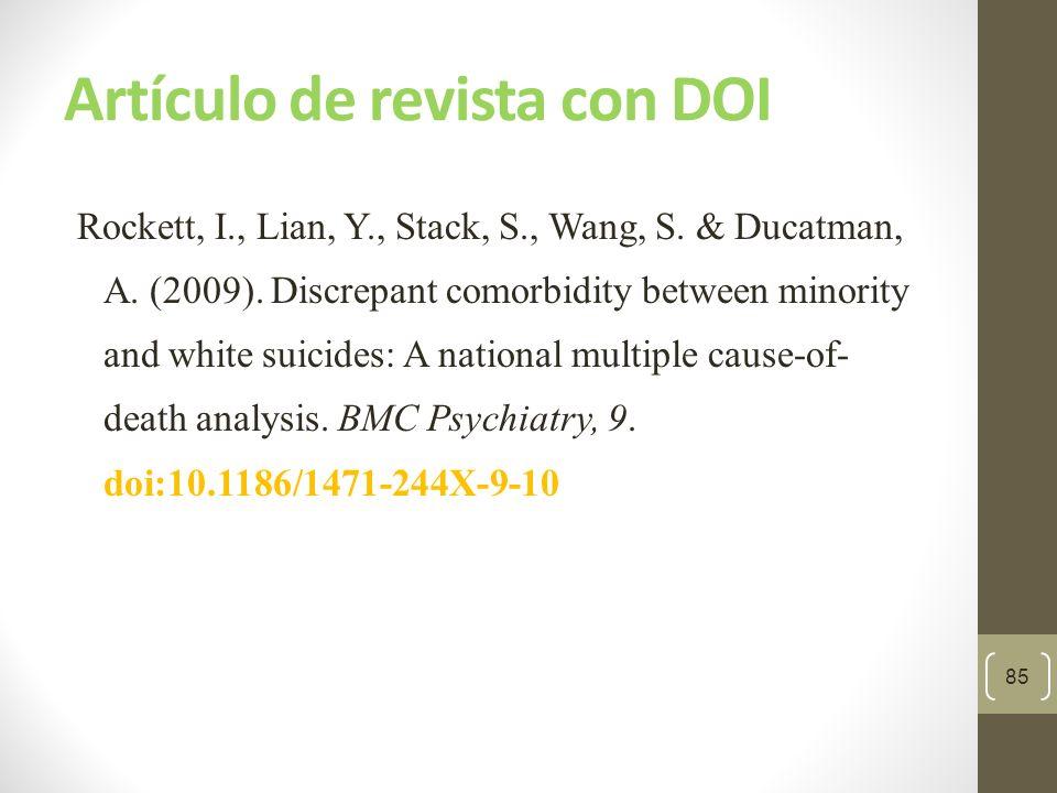 Artículo de revista sin DOI Sillick, T.J. & Schutte, N.