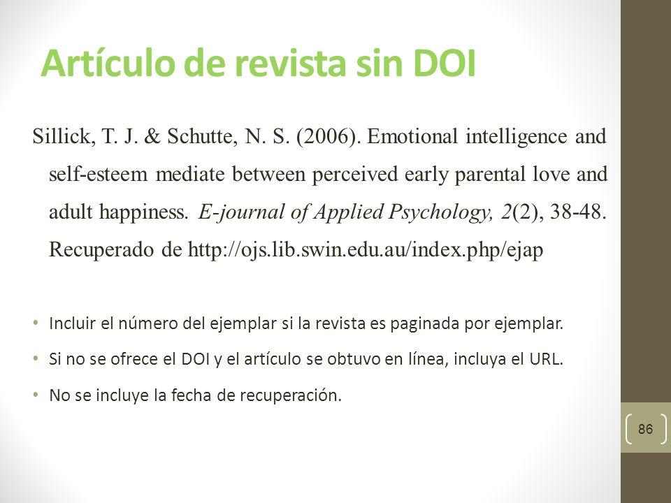 Formatos para libros electrónicos Libro sin DOI : Autor, A.