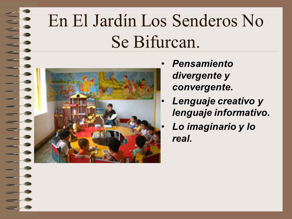 En El Jardín Los Senderos No Se Bifurcan. Pensamiento divergente y convergente. Lenguaje creativo y lenguaje informativo. Lo imaginario y lo real.