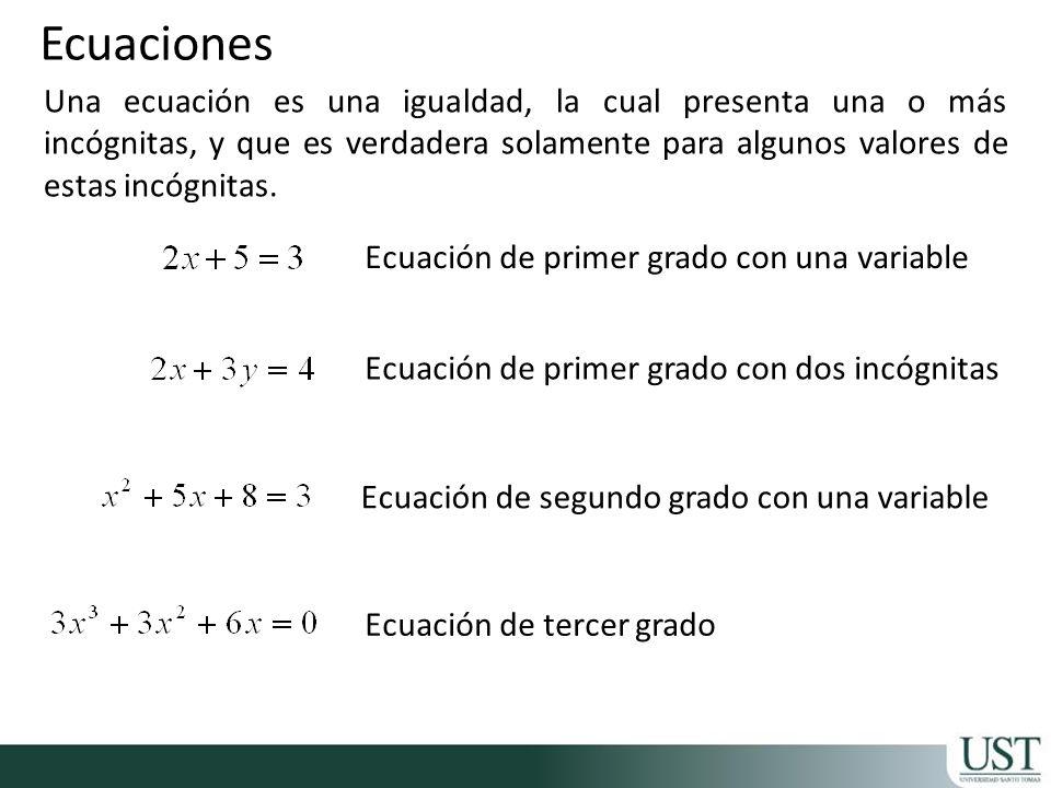 Resolver una ecuación significa encontrar precisamente aquellos valores, para lo cual la ecuación sea verdadera.