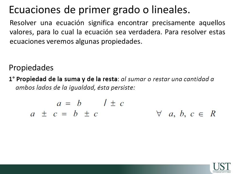 2° Propiedad de la Multiplicación: si se multiplica la igualdad por una cantidad, ésta se mantiene.