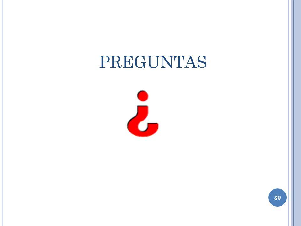 PREGUNTAS 30