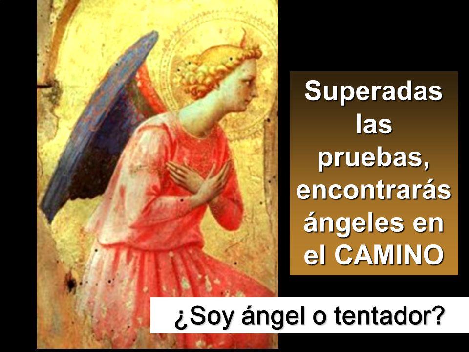 Entonces lo dejó el diablo, y se acercaron los ángeles y le servían.