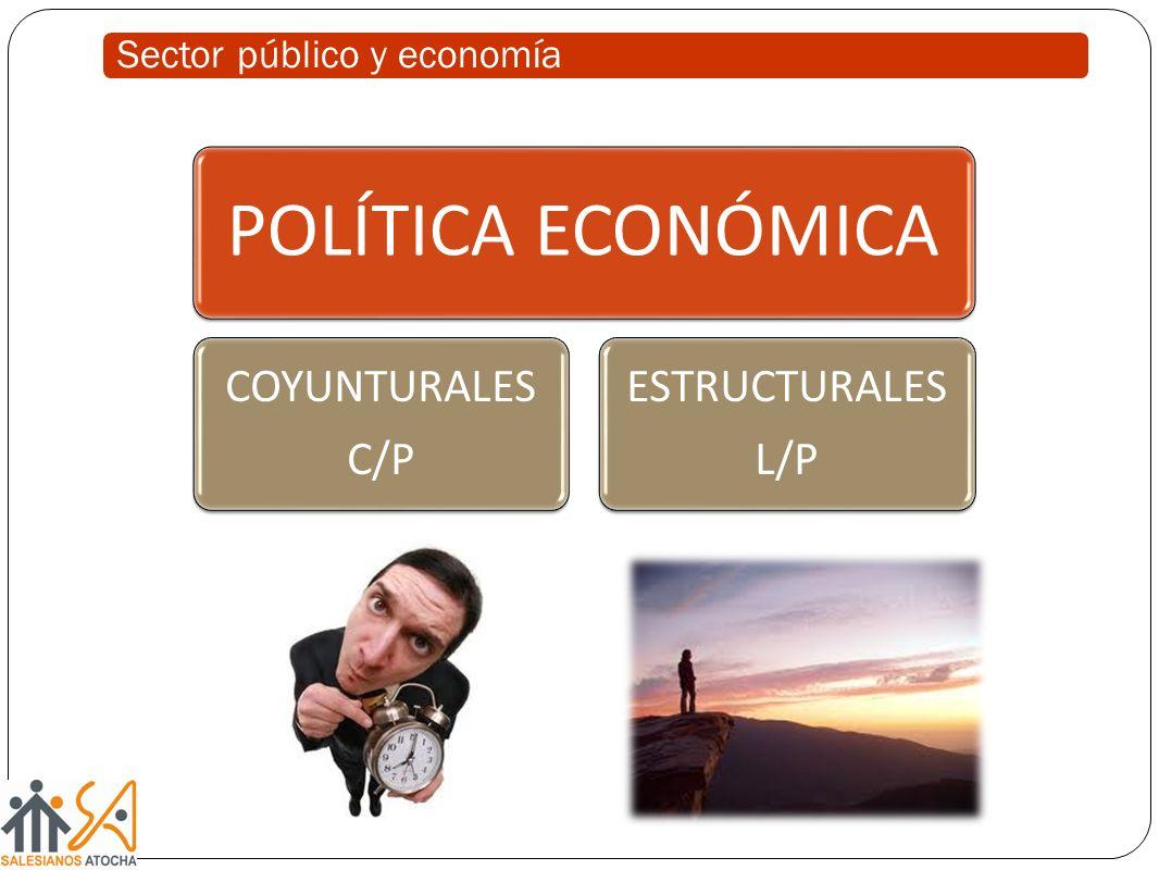 Sector público y economía POLÍTICA ECONÓMICA COYUNTURALES C/P ESTRUCTURALES L/P