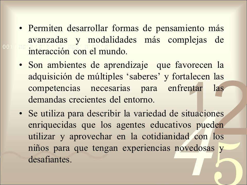 CARACTERÍSTICAS DEL ESPACIO SIGNIFICATIVO SITUACIONES ESTRUCCTURADAS CONTEXTOS DE INTERACCIÓN SITUACIONES DE RESOLUCIÓN DE PROBLEMAS SITUACIONES QUE EXIJAN VARIADAS COMPETENCIAS ESPACIOS EDUCATIVOS SIGNIFICATIVOS