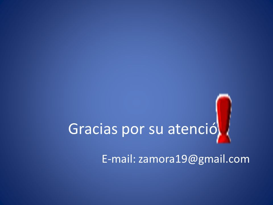 Gracias por su atención E-mail: zamora19@gmail.com