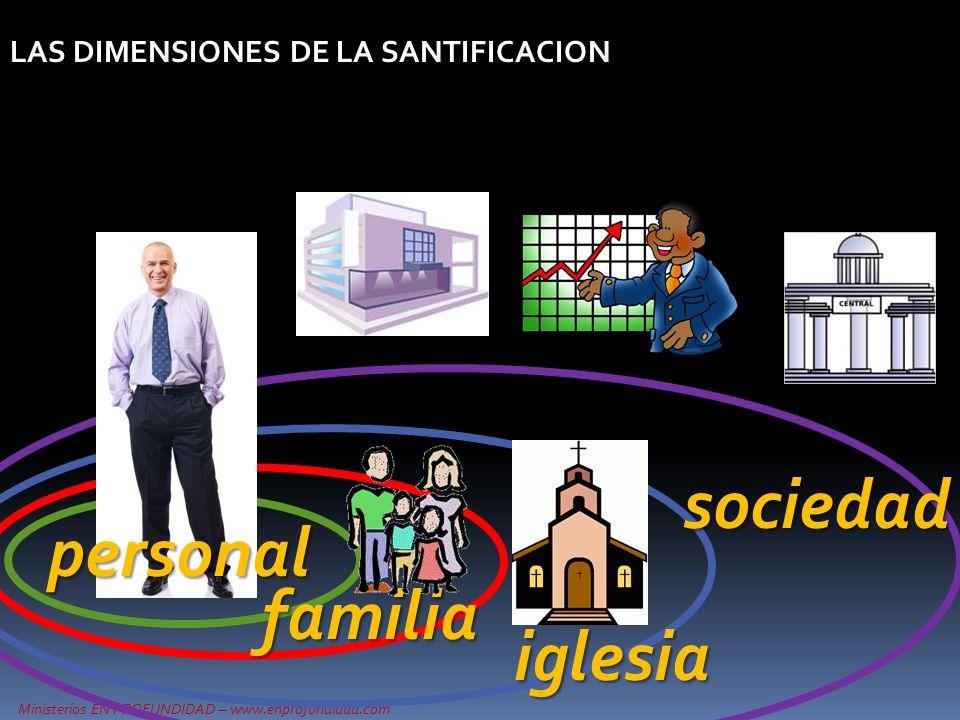 LAS DIMENSIONES DE LA SANTIFICACION personal familia iglesia sociedad